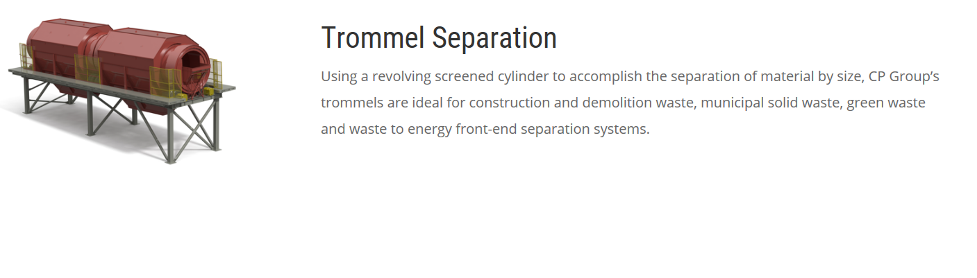 TROMMEL SEPARATION TAMI ROTATIF CP GROUP DISTRIBUÉ PAR DCS Innovations inc.